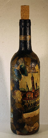 appassionata me Italian artistic adventure decoupage wine bottles