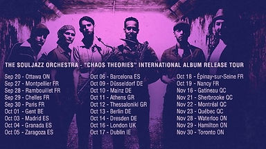 Souljazz Orchestra Chaos Theories International Album Release Tour