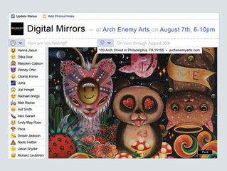 Arch Enemy Arts presents: DIGITAL MIRRORS (group show) & spotlights on Carly Janine Mazur &
