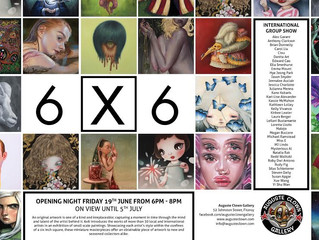 6x6 International Group Exhibition At Auguste Clown Gallery in Melbourne, Australia