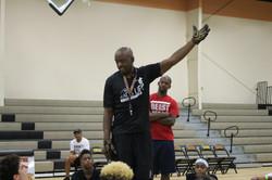 Jabari Johnson speaking to Youth