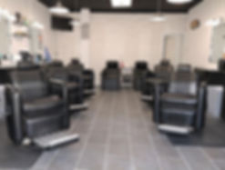 modern barbershop chairs equipment and lighting for the best experience