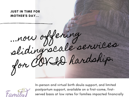 COVID Hardship Fund: Sliding-Scale Services Now Available