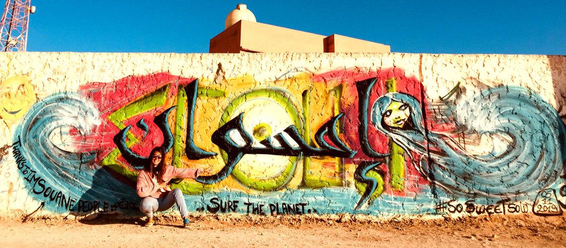 Imsouane graffiti by Sow