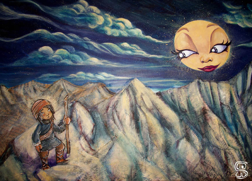 Dorje et la lune