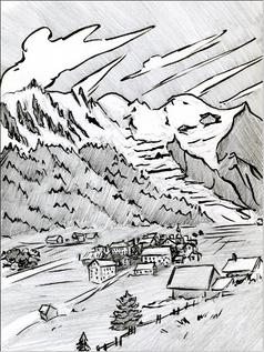 La Vallée de Chamonix il y à longtemps