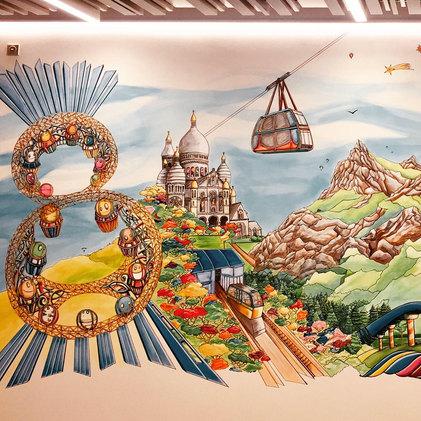 Le Grand 8 de Macao Studio city au funiculaire de Montmarte au Vanoise express