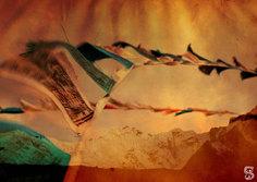 Népal - Drapeaux de prières