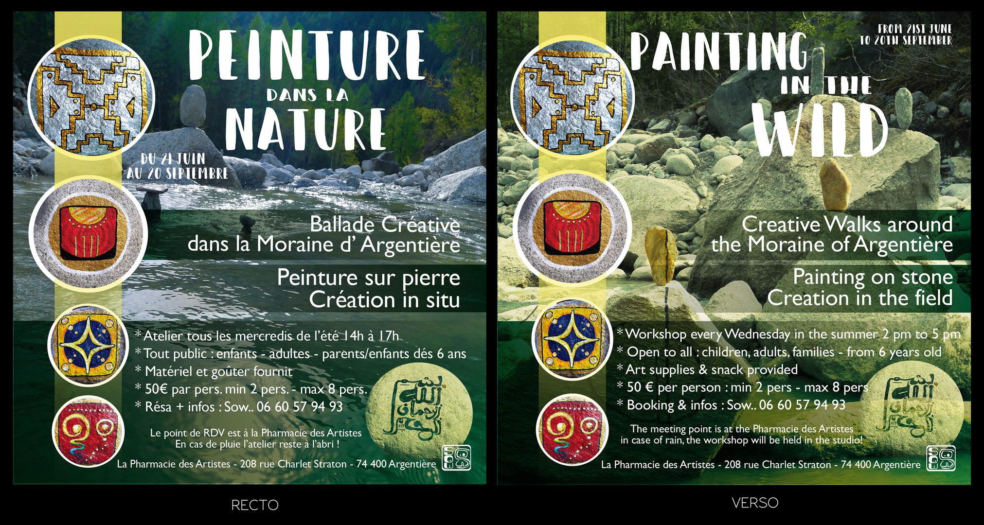 Flyer Peinture Nature