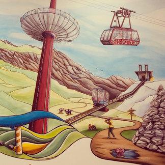 Le Brighton 360° et le funiculaire de Méribel