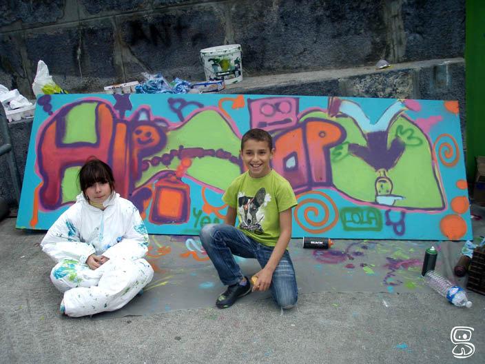 Panneau Graffé avec l'espace animation de Sallanches