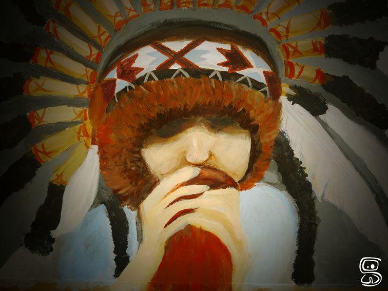 Un joueur de Dijireedoo fait à la peinture acrylique