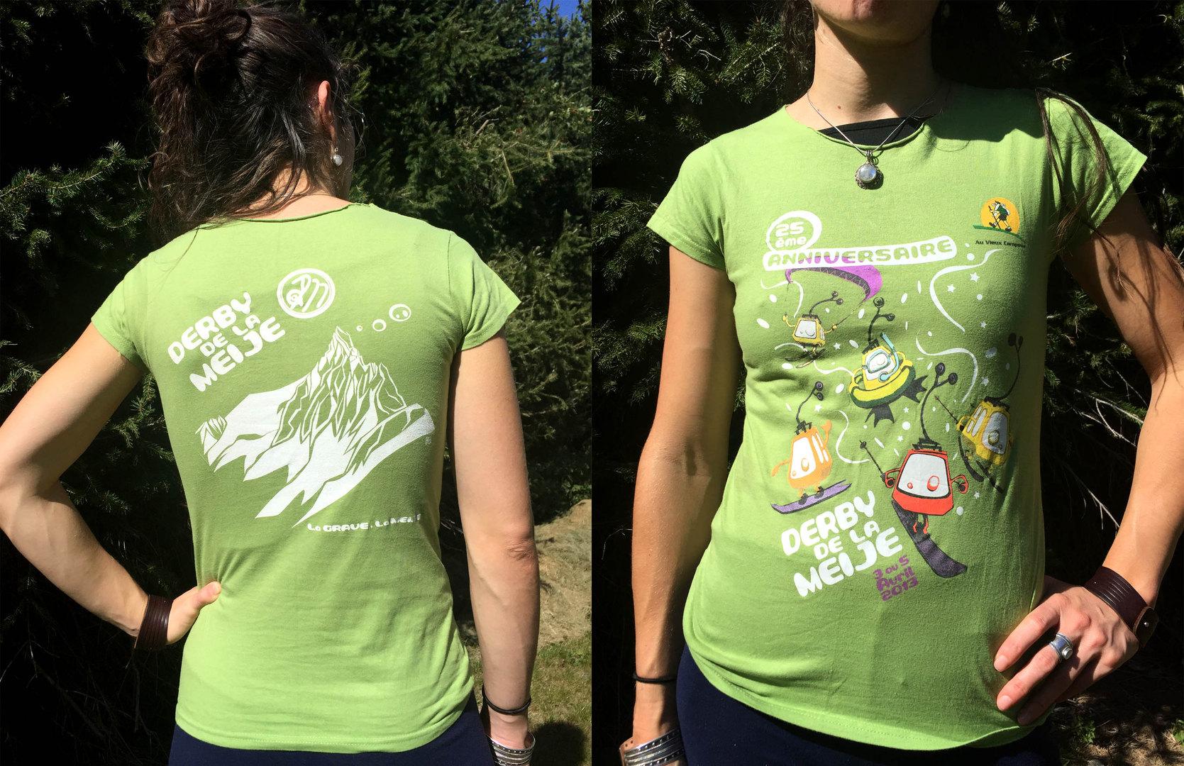 Tee-shirt pour les 25 ans du Derby dela Meije