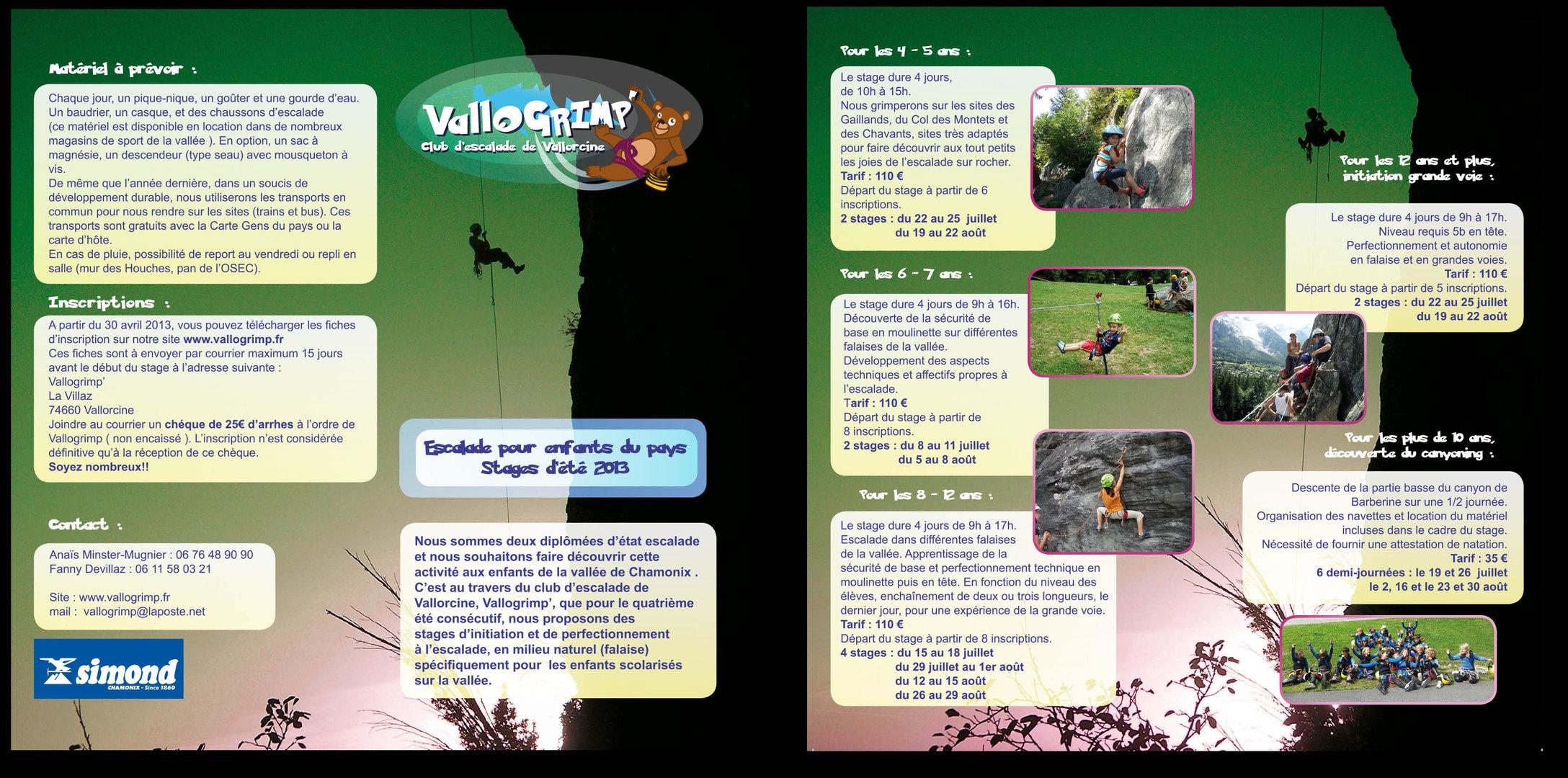 ValloGrimp Stages d'été