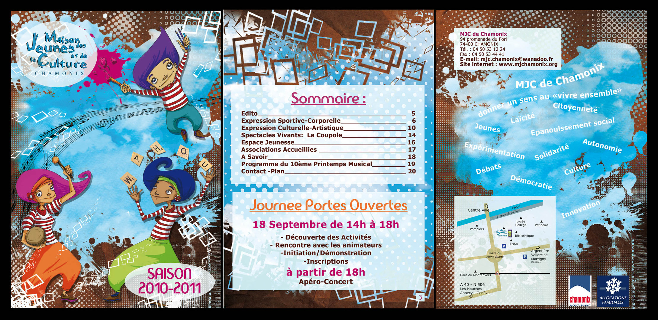 Plaquette MJC 2010-2011