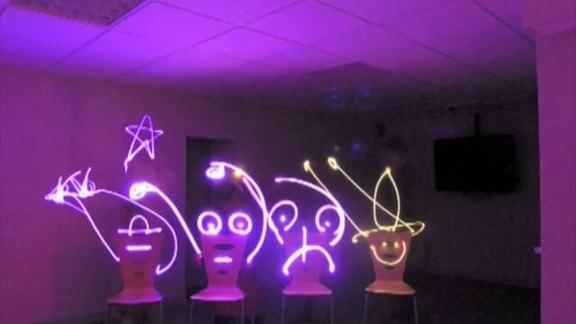 Light Painting animé réalisé avec la MJC de Chamonix