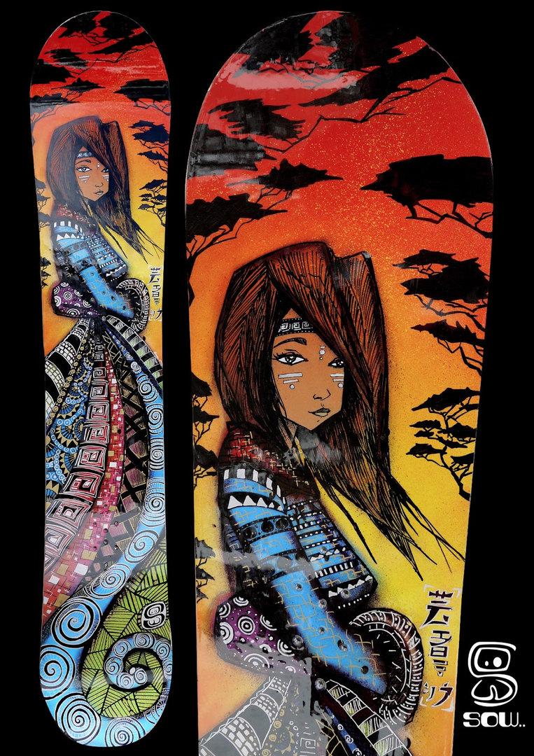 Snowboard Chaman Lady