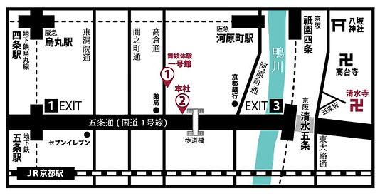 夢館舞妓体験MAP