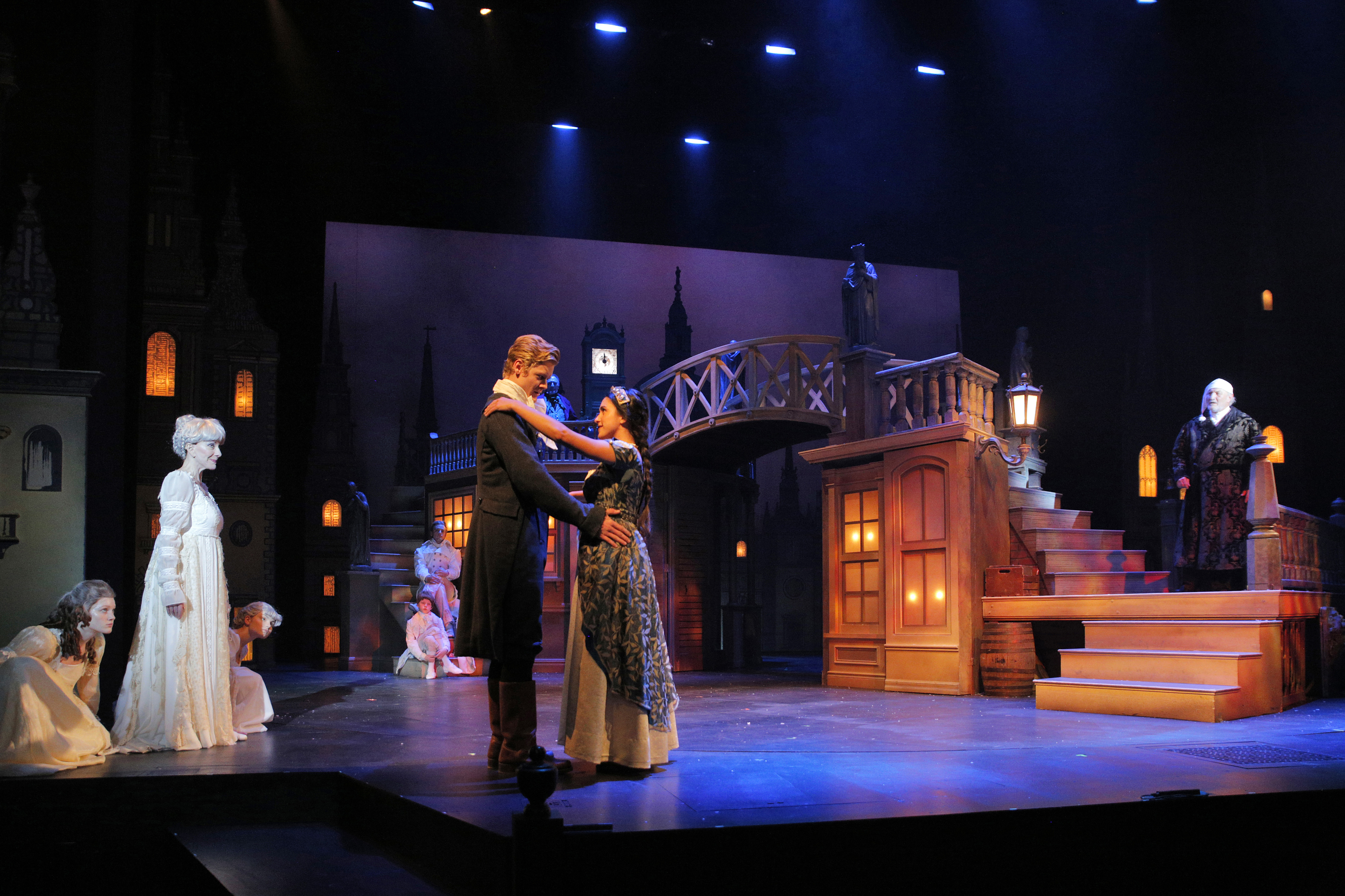 Emily Shackelford as Belle in A Christmas Carol at KCRep