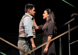 Emily Shackelford and Justin Barron in Man In Love at KCRep