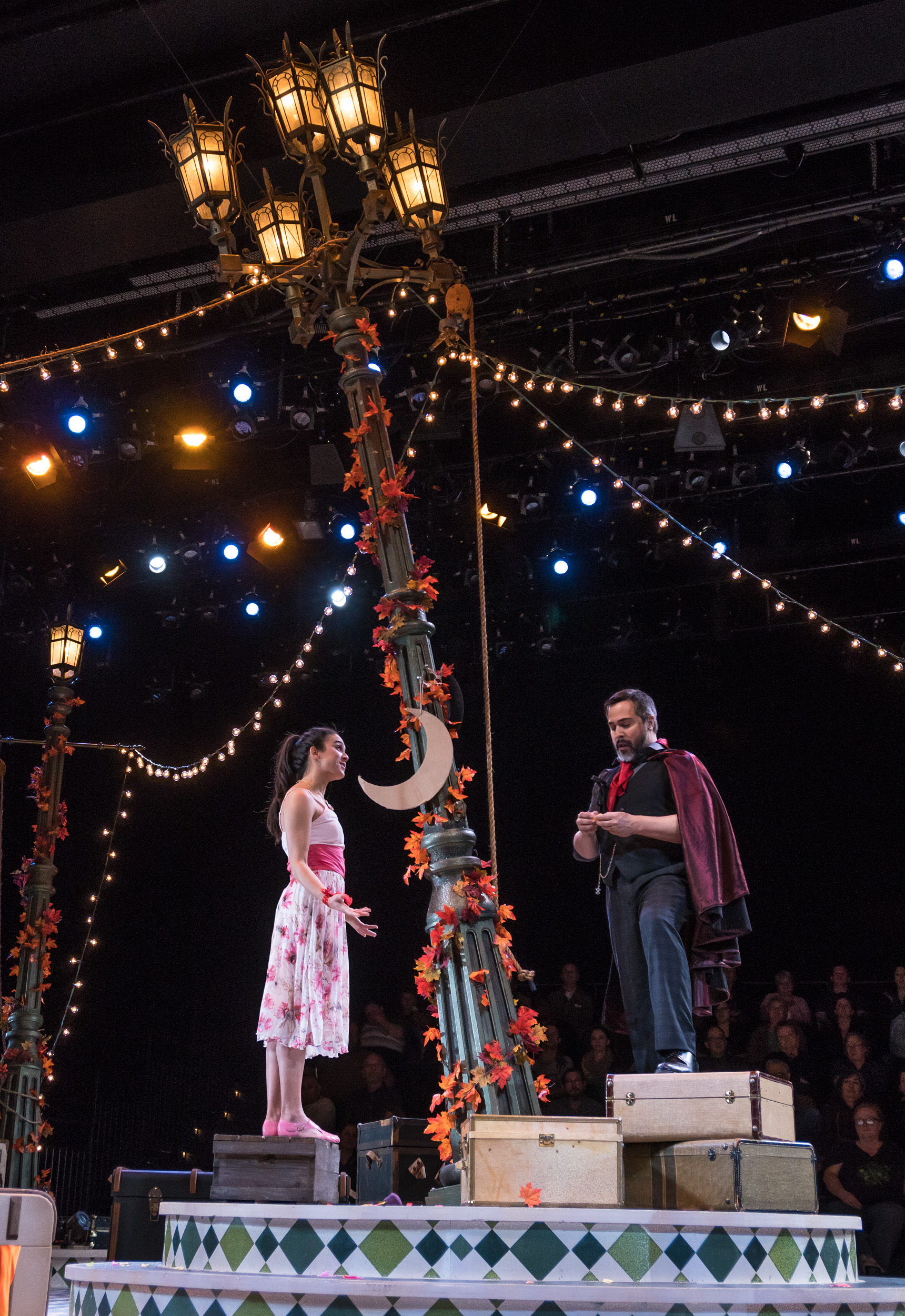 Emily Shackelford and Andrew Varela in The Fantasticks at KCRep