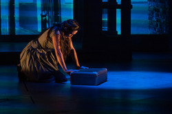 Emily Shackelford as the Mistress in Evita at Kansas City Repertory Theatre (photo by Brian Paulette