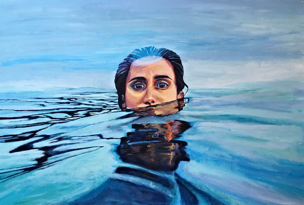 self portrait // acrylic on canvas 36x24in