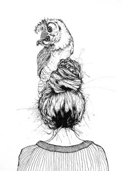 """""""athena"""" // 11x14in print of watercolor 50$ in printshop"""