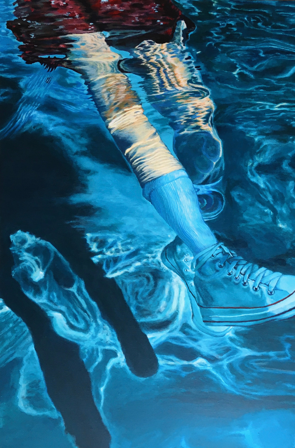 sneakers // acrylic on canvas 24x36 in