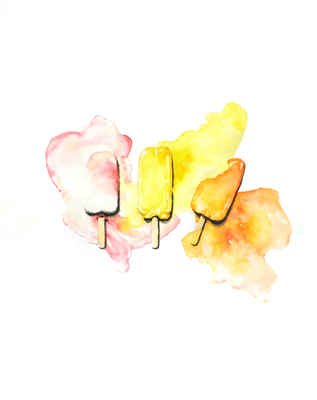"""""""popsicle"""" // 11x14in print of watercolor 50$ in printshop"""