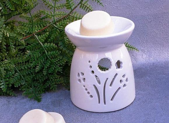 Large Ceramic Burner - white