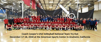 Coach Cooper and USA Volleyball