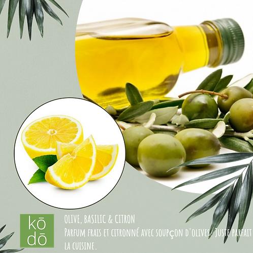 Chandelle kodo Olives, Basilic & Citron