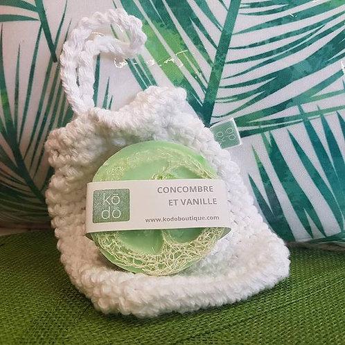 Savon Concombre, Vanille & éponge de loofah