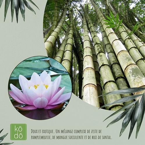 Chandelle kodo Lotus de Bamboo