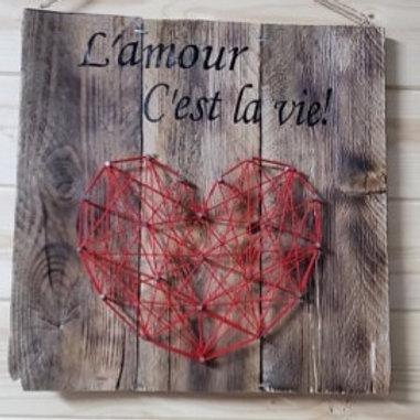 Décoration murale L'amour c'est la vie!