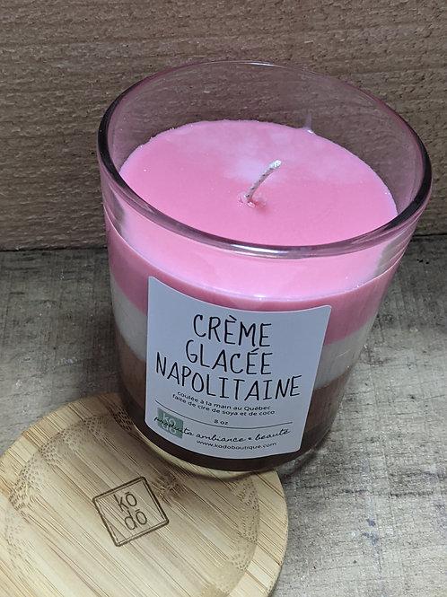 Chandelle Crème glacée Napolitaine
