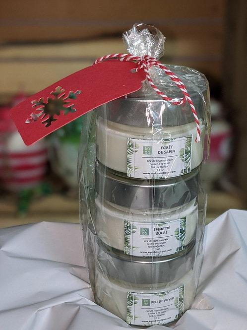 3 Chandelles  fragrances Noel