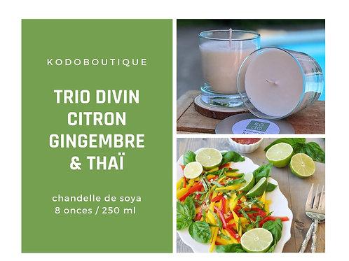 Trio Divin Citron Gingembre & Thaï