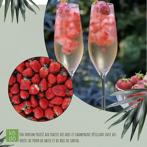 Chandelle kodo Fraises & Champagne