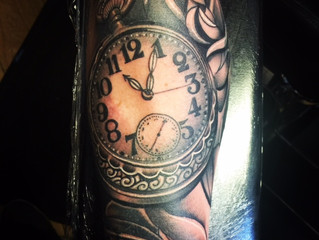 Clock and Roses.