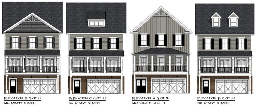 Rigby Street Elevations