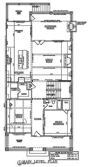 2193 Virginia Pl - Main Level Floor Plan