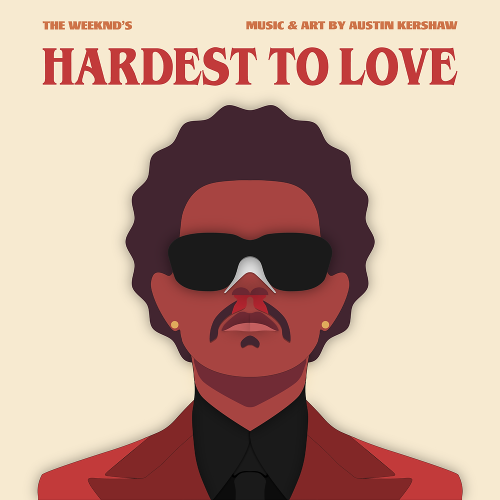 The Weeknd Vector Art (by Austin Kershaw) - 1:1