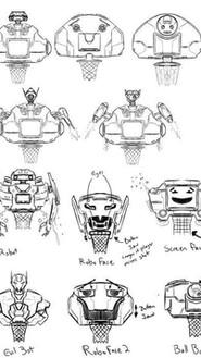 Basketball Robot Concept Art