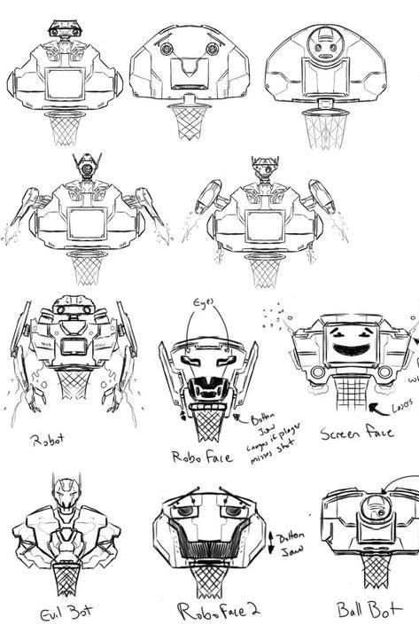 Basketball Robot Concept Art