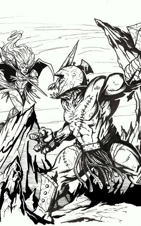 Warriors of Eternity Cover Illustration
