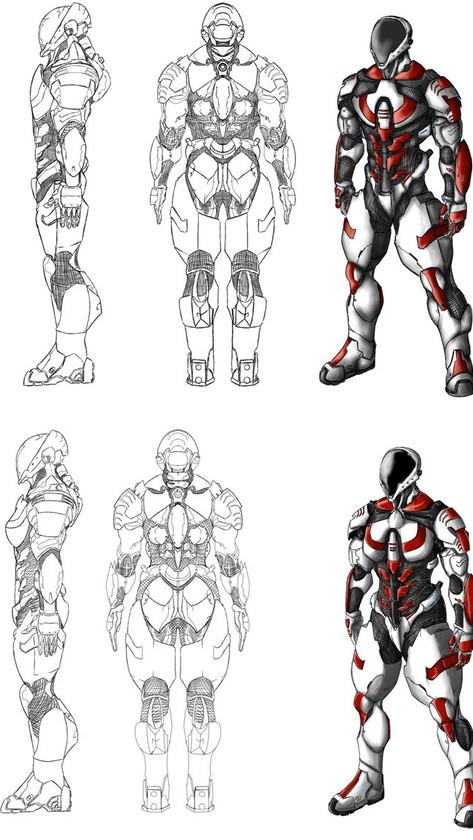 Mercenary Studios Character Concept Art