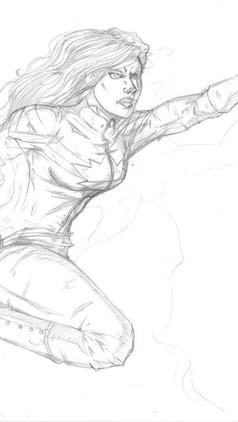 Captain Marvel Sketch