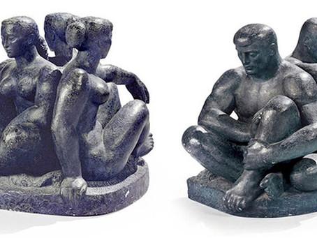 Les sculptures de Lucien Gibert au bord du périphérique parisien
